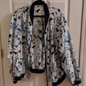 Floral zip up jacket